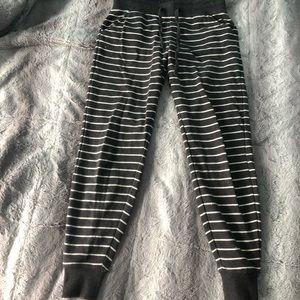 Pants - Greg&white stripped sweatpants/jogger